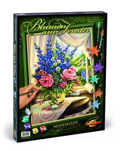 Noris Spiele Malen nach Zahlen - Blumen am Fenster; 609130601