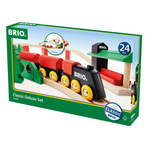 BRIO Classic Deluxe-Set, Holzeisenbahn, Eisenbahn, Holzspielzeug, Holz Spielzeug, 33424