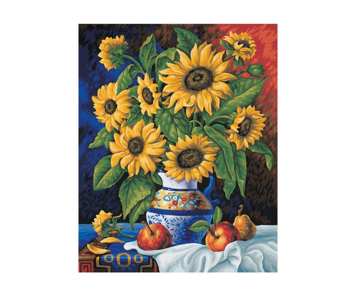 Bild 5 von Noris Spiele Malen nach Zahlen - Stillleben mit Sonnenblumen; 609130308