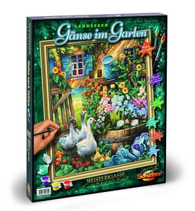 Noris Spiele Malen nach Zahlen - Gänse im Garten; 609130662