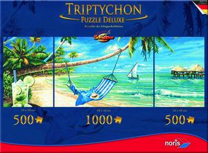 Noris Spiele Tript. Puzzle 2000tlg. Südseeträume; 606038017