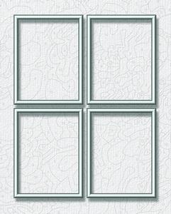 Noris Spiele Malen nach Zahlen - Alurahmen Quattro Silber 18x24 cm; 605290764