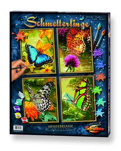 Noris Spiele Malen nach Zahlen - Schmetterlinge (Quattro); 609340628