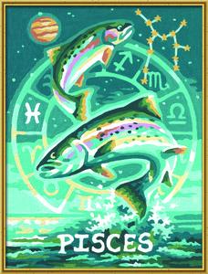 Noris Spiele Malen nach Zahlen - Tierkreiszeichen Fische; 609390671