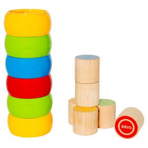 BRIO Motorik-Stapelturm, Motorikspielzeug, Stapel Spiel, Steckspiel, Spielzeug, Holzspielzeug, Holz, 30185