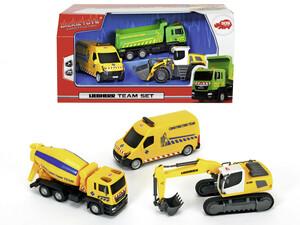Dickie Toys Baufahrzeuge Liebherr-Team-Set
