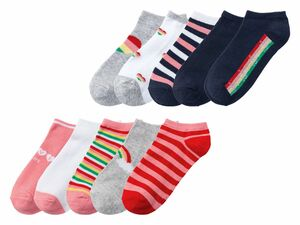 PEPPERTS® 5 Paar Kinder Mädchen Sneakersocken
