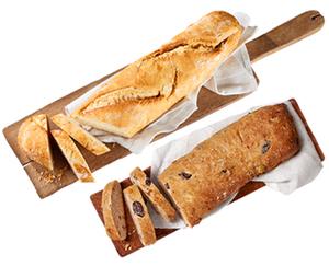 Meisterbaguette und Oliven-Feta Brot*