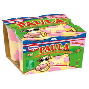 Dr. Oetker Paula Vanille mit Erdbeer-Flecken 4x125g