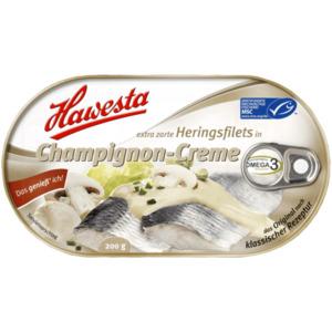 Hawesta Heringsfilets in Champignon-Creme 200g