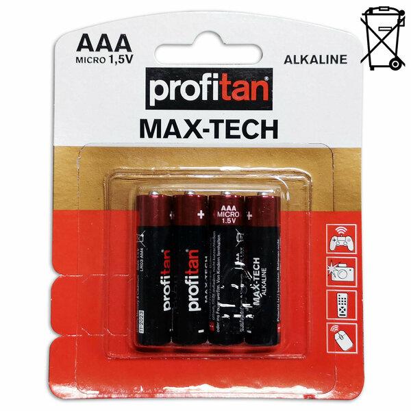 profitan 4er-Pack AAA Micro-Batterien - LR03 - Maxtech