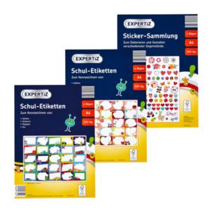 EXPERTIZ     Etiketten- / Stickerbögen