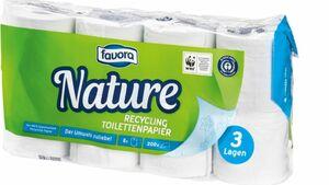 Favora 8 x 200 Blatt 3-lagig Recylcing Toilettenpapier
