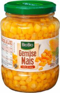 BioBio Gemüsemais 330g / Abtropfgewicht 230g