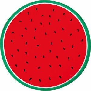 EASYmaxx Strandtuch XL Wassermelone rund 150cm rot/grün Mikrofaser