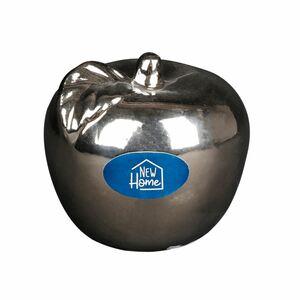Deko-Apfel 9x8,5cm Silberoptik