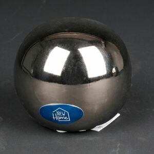 Deko-Kugel 10x8,5cm Silberoptik