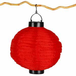 Solar-Lampion rund 25cm Rot