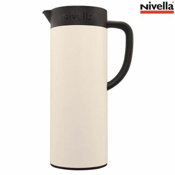 Nivella Premium Isolierkanne 1L Cremeweiß