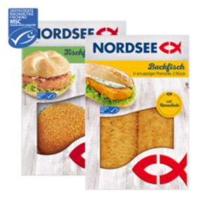 Nordsee Backfisch oder Fischfrikadelle