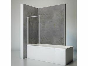 Schulte Badewannenfaltwand 1-teilig zum Kleben oder Bohren