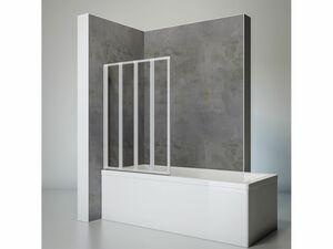 Schulte Badewannenfaltwand 4-teilig zum Kleben oder Bohren