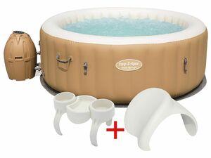Bestway Whirlpool-Set Palm Springs AirJet™ mit Nackenkissen und Getränkehalter