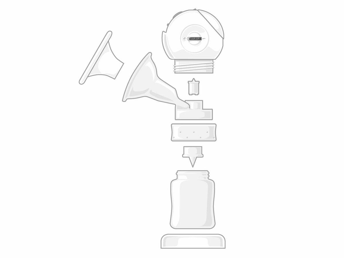 Bild 4 von NUK Elektrische 2-Phasen Komfort-Milchpumpe LUNA