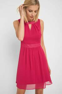 Chiffonkleid mit Cut-Out