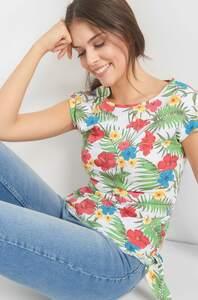 Shirt mit Hawaii-Print