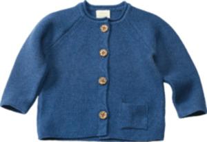 ALANA Baby-Strickjacke, Gr. 68, in Bio-Baumwolle, blau, für Mädchen und Jungen