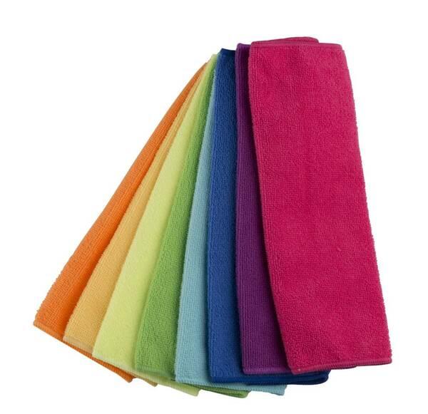 Reinigungstücher, Putz-Tücher, Mikrofaser, Bunt, 8-teilig