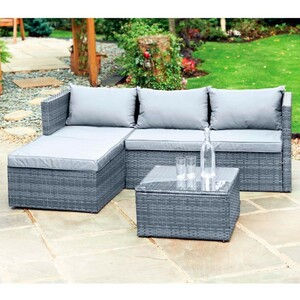 Rattan-Eck-Lounge-Set »Sorrento « grau