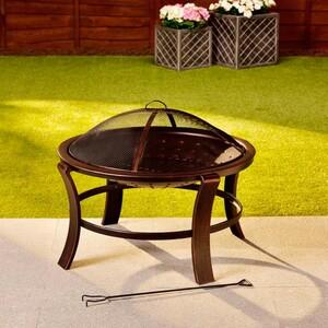Feuerkorb »Toskana« mit Funkenschutzgitter 76 x 56 cm Bronze-Optik