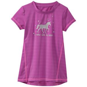 Mädchen Sport-T-Shirt mit Glitzer-Motiv