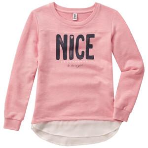 Mädchen Sweatshirt mit Chiffonbesatz