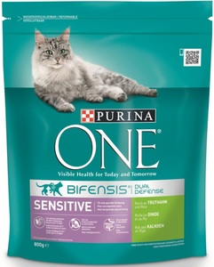 Purina One Cat Bifensis Sensitive reich an Truthahn & Reis 800 g