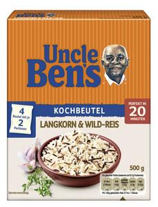Uncle Ben´s Langkorn & Wild-Reis im Kochbeutel 20 Minuten 4x 125 g