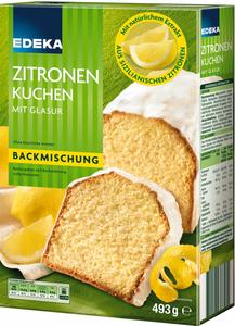 EDEKA Backmischung Zitronenkuchen mit Glasur 493 g