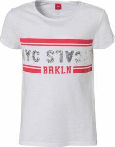 T-Shirt mit Pailletten weiß Gr. 134/140 Mädchen Kinder