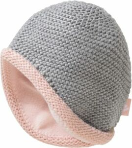 Kinder Mütze grau Gr. 44 Mädchen Baby