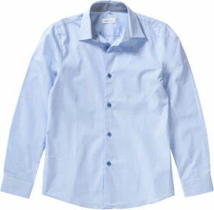 Hemd mit Kentkragen, slim blau Gr. 158 Jungen Kinder