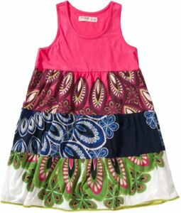 Kinder Jerseykleid, Patchwork pink Gr. 122/128 Mädchen Kinder