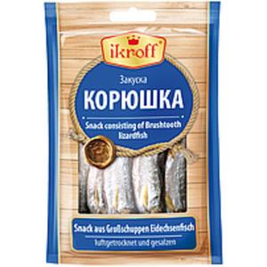 Snack aus Großschuppen Eidechsenfisch (Saurida Undosquamis),...