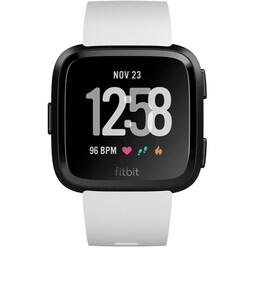 Fitbit Versa Smartwatch white/black aluminium