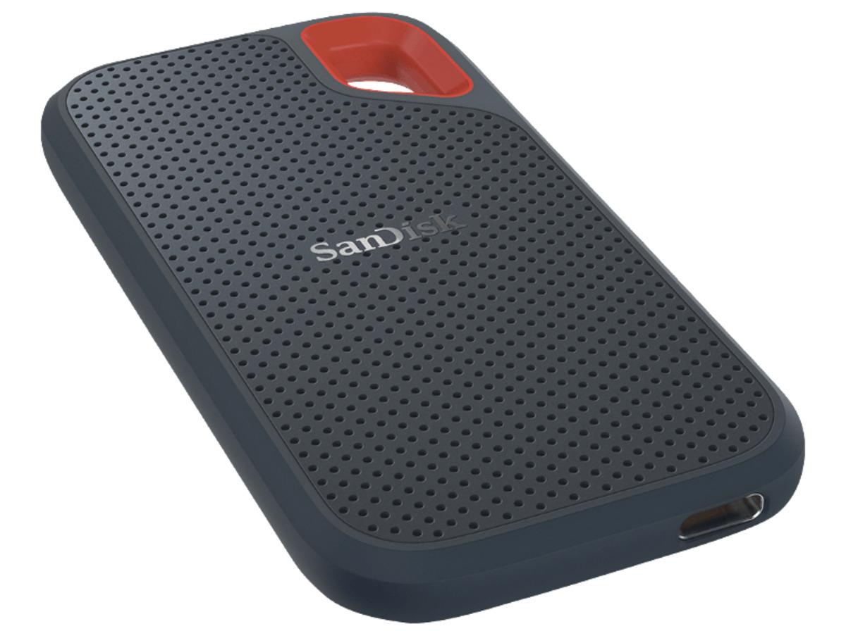 Bild 2 von SANDISK Extreme® Portable, 1 TB, 2.5 Zoll, Festplatte, Grau/Rot