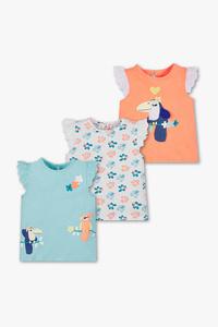 Baby Club         Baby-Kurzarmshirt - 3er Pack
