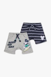 Micky Maus - Baby-Shorts - Bio-Baumwolle - 2er Pack
