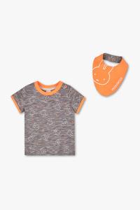 Miffy - Set - Baby-Kurzarmshirt und Lätzchen
