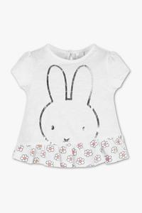 Baby Club         Miffy - Baby-Kurzarmshirt - Bio-Baumwolle - Glanz Effekt
